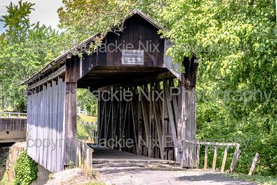 Ringos Mills Covered Bridge - close up