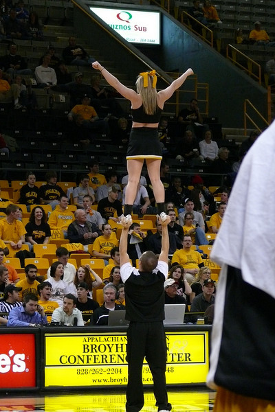 The cheerleaders were great - constantly doing something to keep the crowd involved.