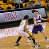 Guard/Forward #10 Canesha Edwards cutting the angle.