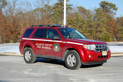 Atlantic County Fire Marshal  H.J. Whitey Swartz uses a 2009 Ford Escape Photo by Chris Tompkins
