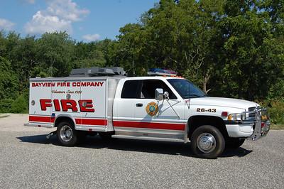 Bayview Utility 26-43 1999 Dodge Ram - Swab  Ex. Mutual Aid Emergency Service. Photo by Chris Tompkins
