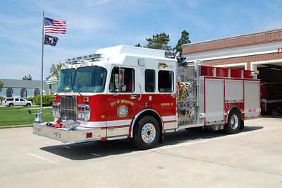 Brigantine Engine 3, a 2005 Spartan Gladiator 1750 / 750.  Photo by Chris Tompkins
