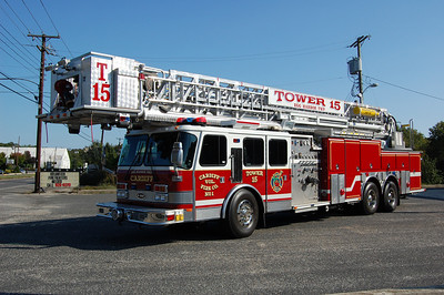 Cardiff Fire Co. of Egg Harbor TwpTower 5 2000 E-One 105' Photo by Chris Tompkins