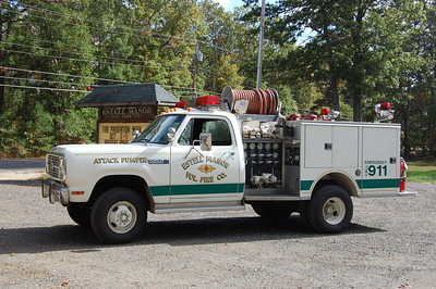 Estell Manor Fire Co. in Buena Twp. Attack Pumper 12-52, a 1979 Dodge Power Wagon 400 / Pierce, 450 / 265.  photo by Chris Tompkins