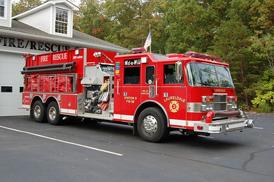 Laureldale Fire Co. in Hamilton Twp.  Tanker 1838 2000 Pierce dash 3000tank 2250gpm Photo by Chris Tompkins