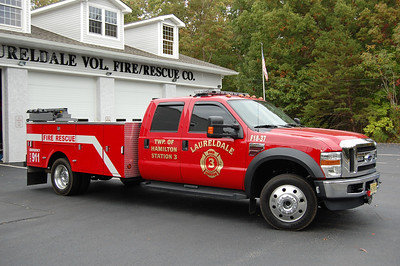 Laureldale Fire Co. in Hamilton Twp. Rescue 18-37, a 2008 Ford F-450 / Stahl.  Photo by Chris Tompkins