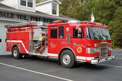 Laureldale Fire Co. in Hamilton Twp. Engine 1833 1995 piece dash 1250gpm 1000tank Photo by Chris Tompkins