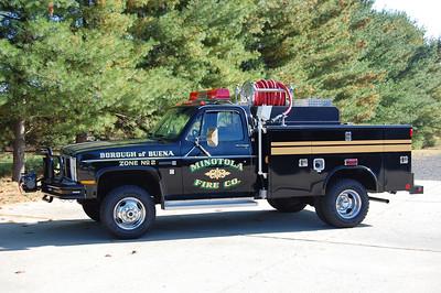 Minotola Fire Co. in Buena Twp. Mini-Attack 11-24, a 1986 GMC / -- 120 / 300.  Photo by Chris Tompkins