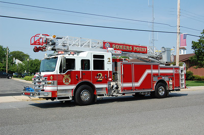 Somers Point Truck 2 2011 Pierce Impel 1500-500 75' Photo by Chris Tompkins