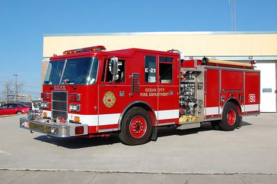 Ocean City Engine 21 1996 Pierce Dash 700tank 50foam 1750gpm Photo by Chris Tompkins
