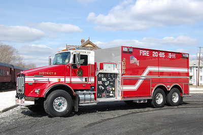 Tuckahoe Tanker 2085 2013 Kenworth - Pierce 1750-4100 Photo by Chris Tompkins