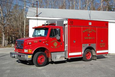 Cumberland FD of Maurice River Township Rescue 2321 1997 International 4700-Ferrara Ex Port Norris, NJ Photo by Chris Tompkins