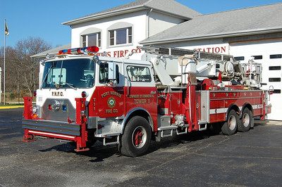 Port Norris of Commercial Township Tower 11 1989 Mack Baker 75' Aerial Scope EX. Annandale, NJ Photo by Chris Tompkins