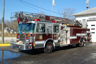 Port Norris of Commercial Township Ladder11 1997 Ferrara 75' 1750-500 Photo by Chris Tompkins