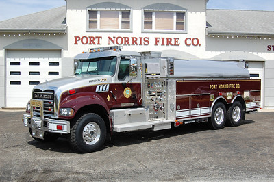 Port Norris of Commercial Township Tender 1111 2012 Mack-KME 1500-3000 Photo by Chris Tompkins