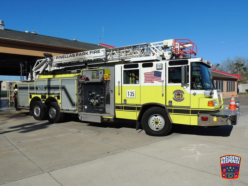 Pinellas Park Fire Fire Dept. Reserve Ladder Truck 35