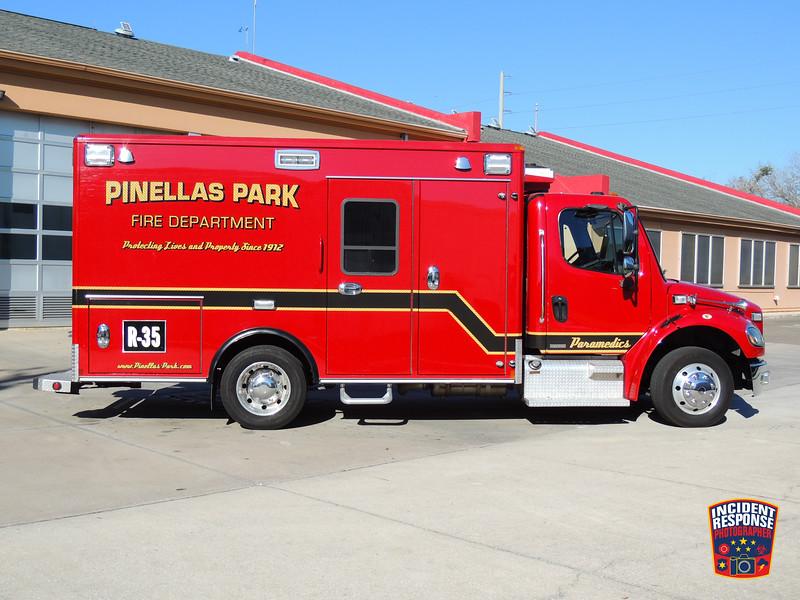 Pinellas Park Fire Fire Dept. Reserve Rescue 35