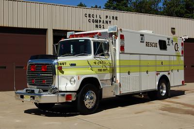 Cecil Rescue 2957 1989 Ford L8000 - Marion