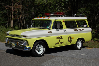 Cecil Fire Police 1965 Chevy Surburban