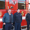 Firefighter Rich Kubler, Captain Tom Ryan and Firefighter John Fasulo.