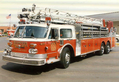 Secaucus Ladder 417 1983 ALF 100'. Photo by Bill Tompkins