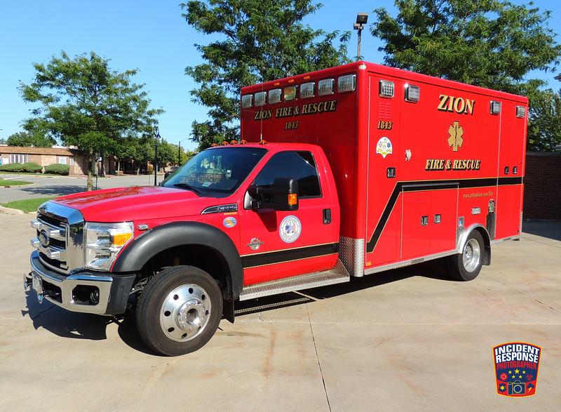 Zion Fire Dept. Ambulance 1843