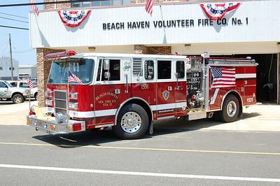Beach Haven Engine 1531 1993 Pierce Lance 1250-500 Ex. Brookline, PA. Photo by Chris Tompkins