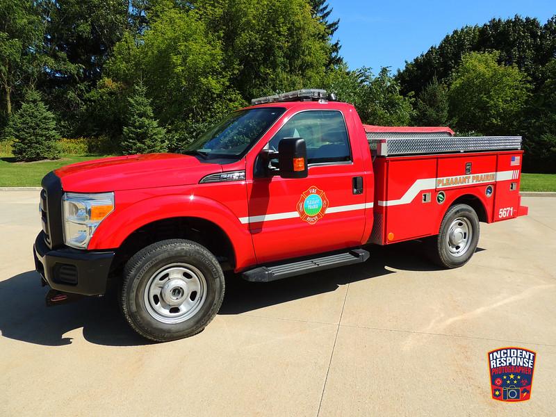 Pleasant Prairie Fire Dept. Brush Truck 5671
