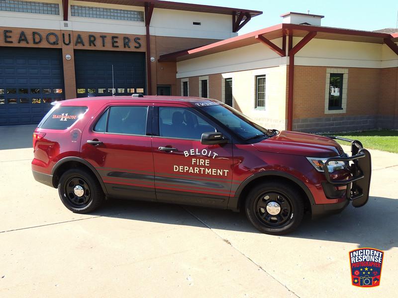 Beloit Fire Dept. Chief SUV