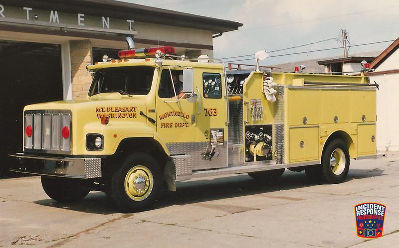Monticello Fire Dept. Engine 763
