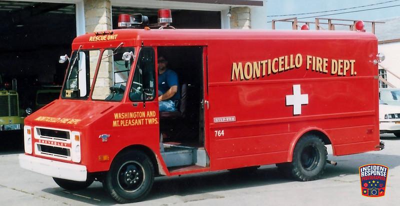 Monticello Fire Dept. Squad 764