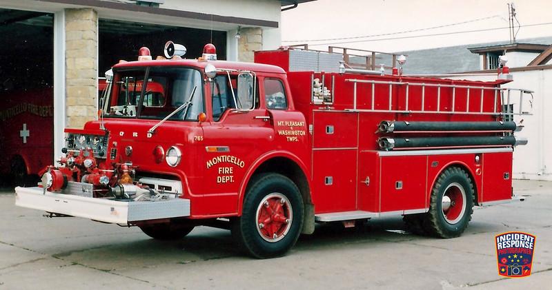 Monticello Fire Dept. Engine 765