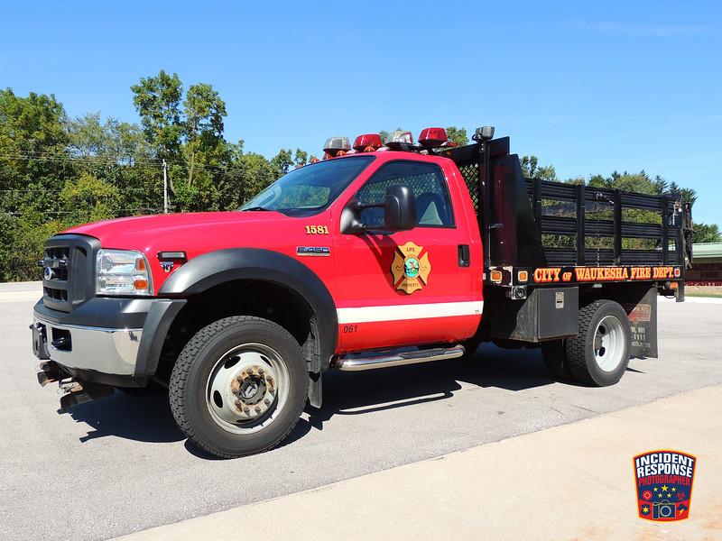 Waukesha Fire Dept. Utility Truck 1581