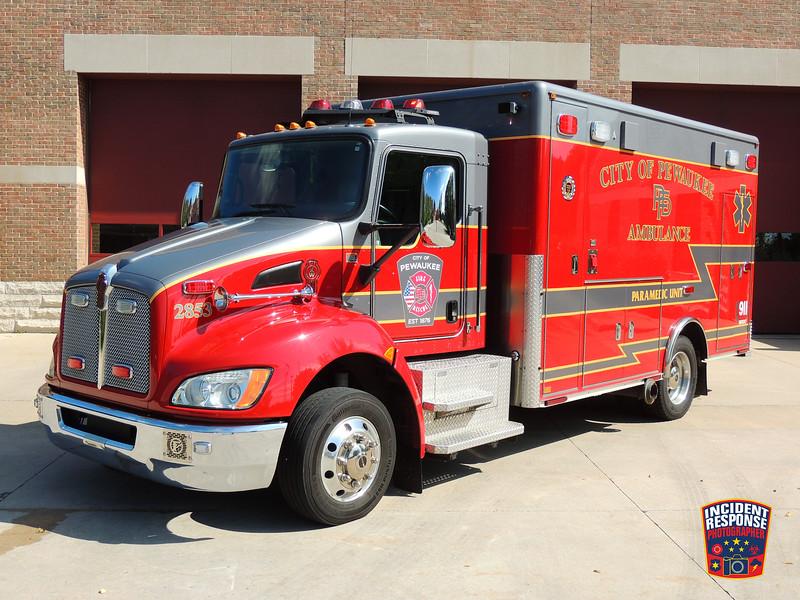 Pewaukee Fire Dept. Ambulance 2853 (reserve)