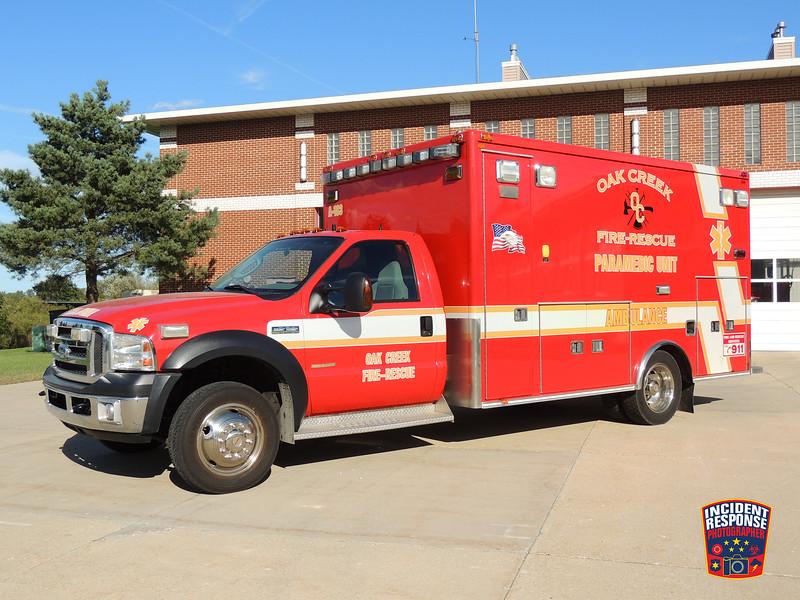 Oak Creek Fire Dept. Reserve Med Unit
