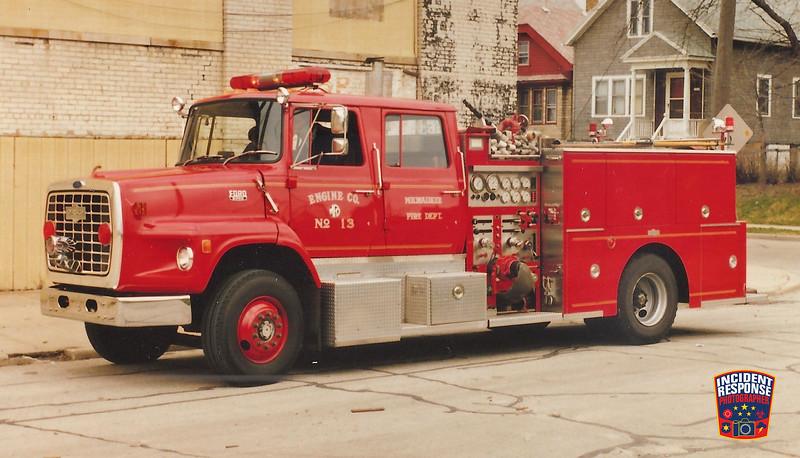 Milwaukee Fire Dept. Engine 13