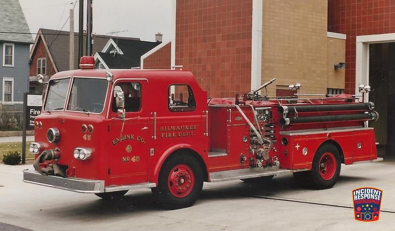 Milwaukee Fire Dept. Engine 45