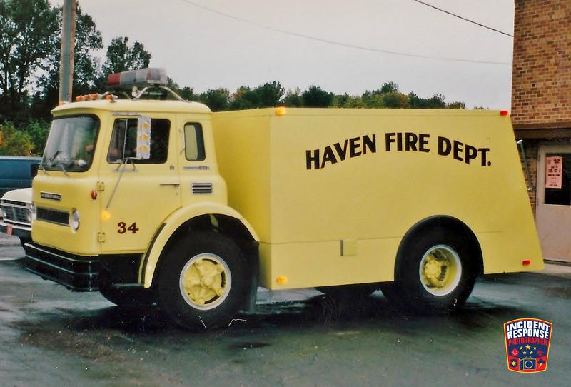 Haven Fire Dept.  Tanker 34