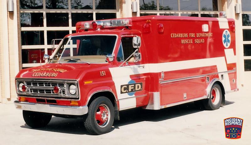 Cedarburg Fire Dept. Rescue Squad 151