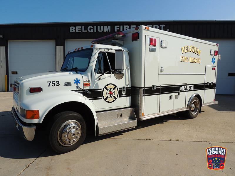 Belgium Fire Dept. Rescue Squad 753