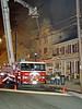 Franklin's Snorkel working a hotel fire in Washington Bro. This was Hackettestown's former Snorkel