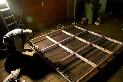 Constructie van het afrolbaar dak.