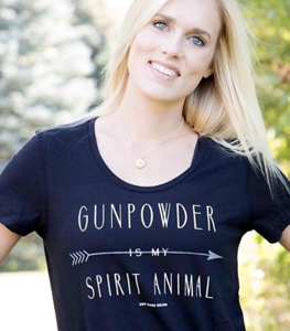 Gunpowder is my Spirit Animal Black T shirt