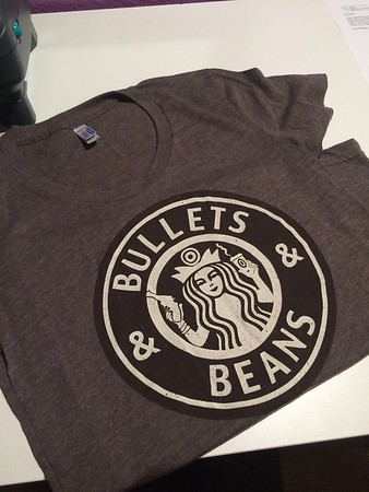 Bullets and Beans Mocha Version Tee