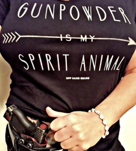 Gun Powder is my Spirit Animal Black T shirt