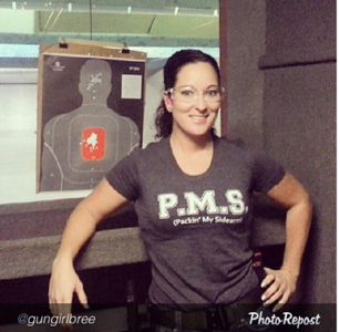 PMS Tee Grey Heather / Photo Credit: Gun Girl Bree