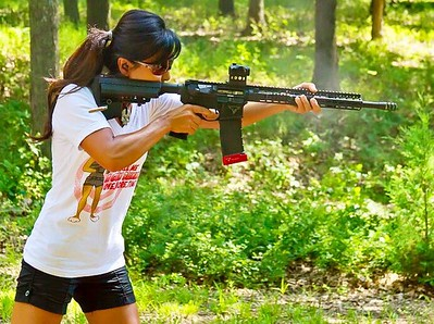 Call me a Gun Bunny white tee / Photo Credit: Tac Girl Michelle