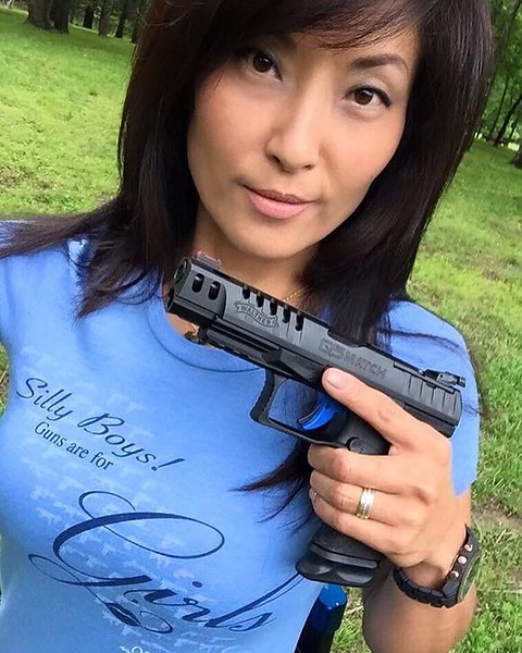 Silly Boys Guns are for Girls Blue Tee / Photo Credit: Tac Girl Michelle