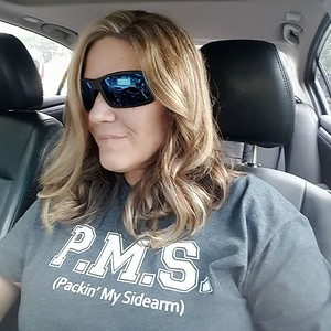 "PMS ""Packing my Sidearm"" grey heather t shirt"