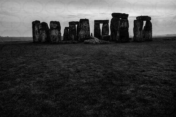 Stonehenge in Monochrome